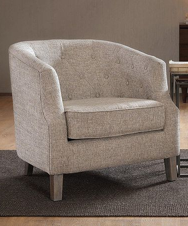 Love This Natural Chair On #zulily! #zulilyfinds   Barrel Throughout Kjellfrid Chesterfield Chairs (View 17 of 20)