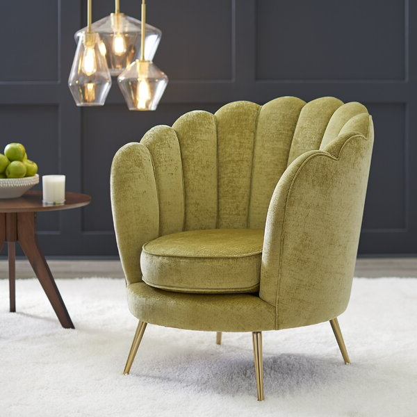 Low Back Accent Chair For Alwillie Tufted Back Barrel Chairs (View 8 of 20)