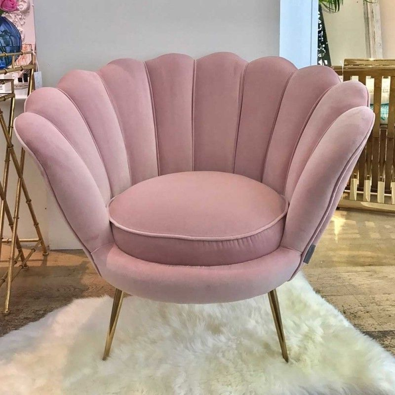 Luxury Trapezium Armchair – Antique Rose | Art Deco Chair Intended For Grinnell Silky Velvet Papasan Chairs (View 9 of 20)