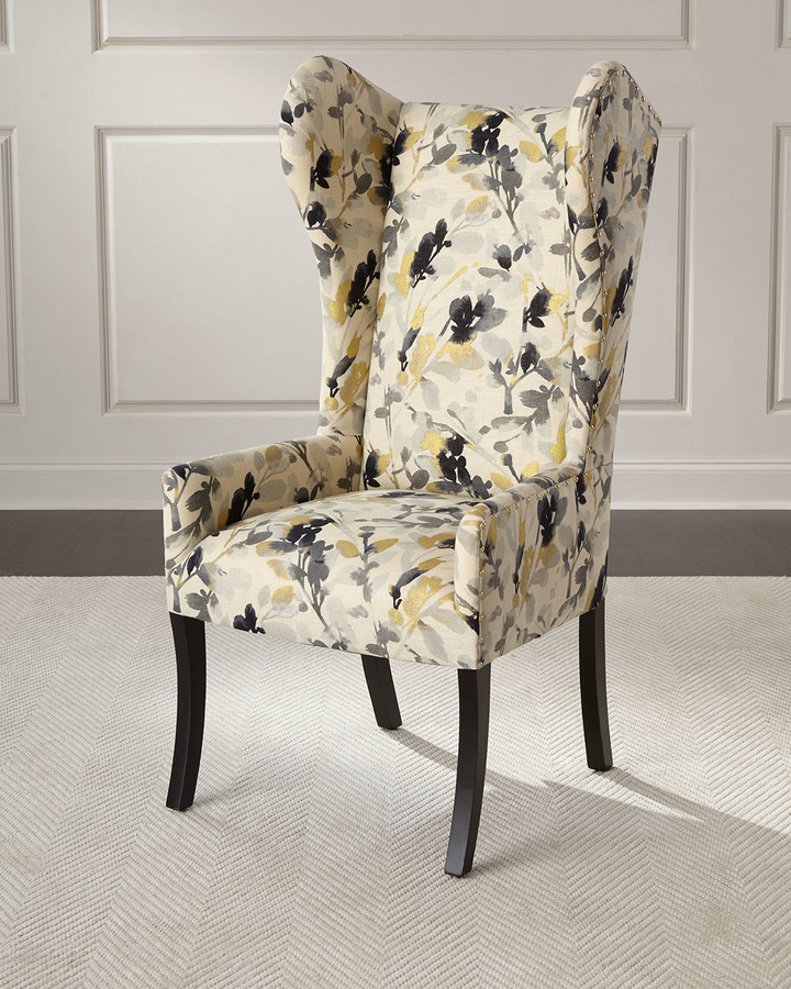 Maha Sapphire Wingback Chair With Sweetwater Wingback Chairs (View 5 of 20)
