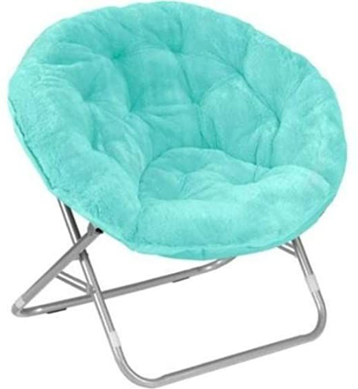 Mainstay Saucer Chair, Wind Aqua In 2020 | Saucer Chairs Inside Renay Papasan Chairs (View 4 of 20)