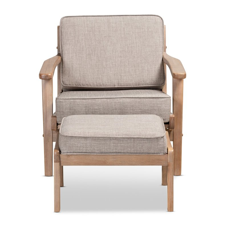 Malmesbury Lounge Chair And Ottoman Within Brames Barrel Chair And Ottoman Sets (View 15 of 20)