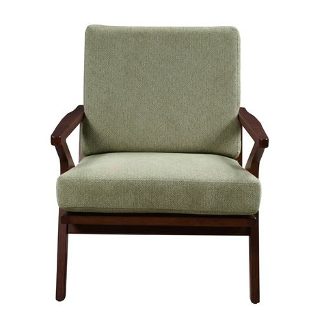 Manglo Mid Century Wood Accent Armchair | Accent Arm Chairs Throughout Liston Faux Leather Barrel Chairs (View 11 of 20)