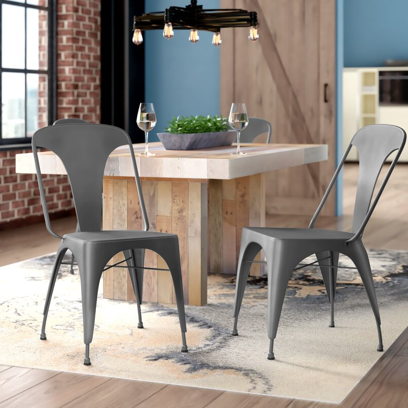 Marie Metal Side Chair Regarding Trent Side Chairs (View 7 of 20)
