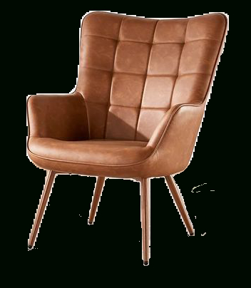 """Marisa 28"""" W Faux Leather Wingback Chair Throughout Marisa Faux Leather Wingback Chairs (View 2 of 20)"""