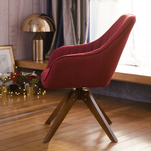 Maroon Swivel Chair For Brister Swivel Side Chairs (View 13 of 20)