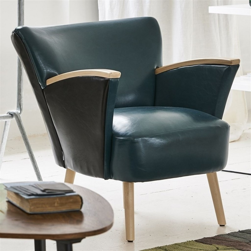 Matara Lucida Faux Leather Designers Guild Pertaining To Montenegro Faux Leather Club Chairs (View 13 of 20)