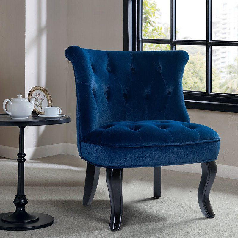 Maubara Lewisville Wingback Chair In 2020 | Blue Upholstered Pertaining To Maubara Tufted Wingback Chairs (View 7 of 20)