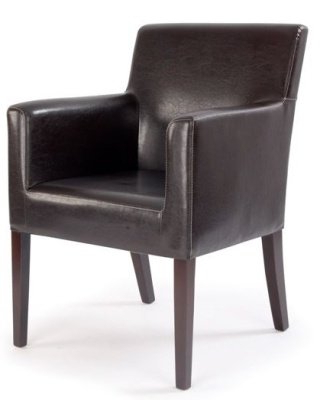 Metro Brown Leather Armchair With Regard To Jill Faux Leather Armchairs (View 13 of 20)
