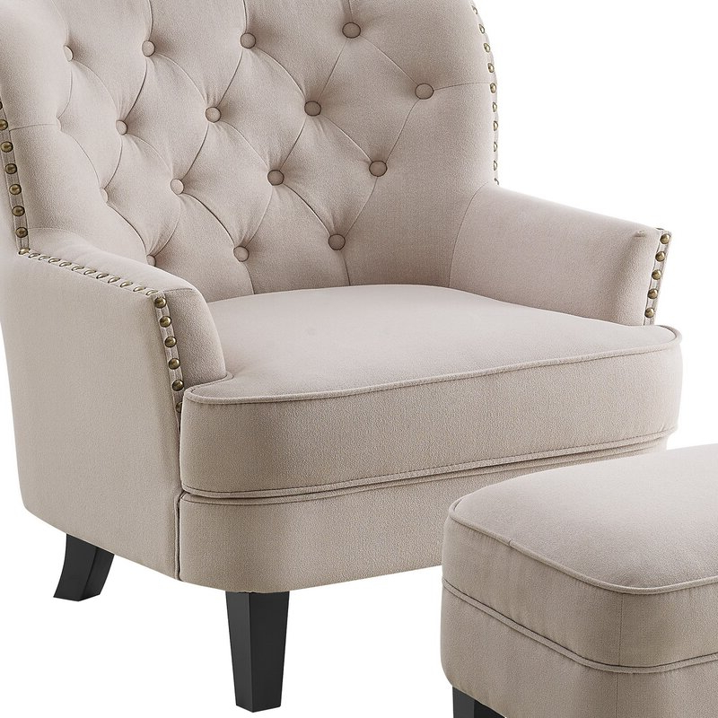 """Michalak Cheswood 23"""" Armchair And Ottoman With Regard To Michalak Cheswood Armchairs And Ottoman (View 3 of 20)"""