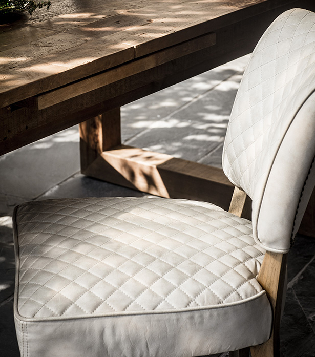 Mimi Quilt Dining Chair Within Chiles Linen Side Chairs (View 17 of 20)