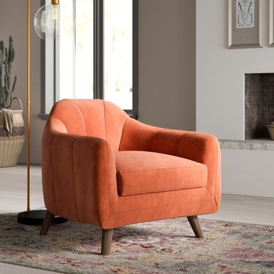 Mistanatm Boevange Sur Attert Armchair Mistana Upholstery Color: Stax Rust Pertaining To Focht Armchairs (View 15 of 20)
