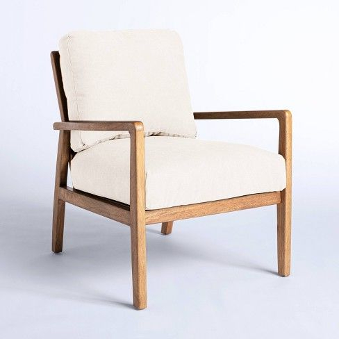 Mixed Material Accent Chair Cream – Threshold™ Designed With Throughout Lakeville Armchairs (View 16 of 20)
