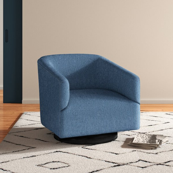 Modern & Contemporary Liam Barrel Chair For Liam Faux Leather Barrel Chairs (View 19 of 20)