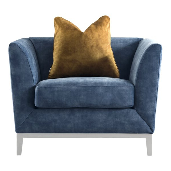Modern Velvet Chair Regarding Didonato Tufted Velvet Armchairs (View 13 of 20)