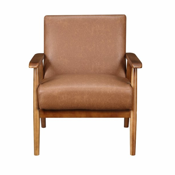 Modern White Leather Chair With Regard To Marisa Faux Leather Wingback Chairs (View 7 of 20)