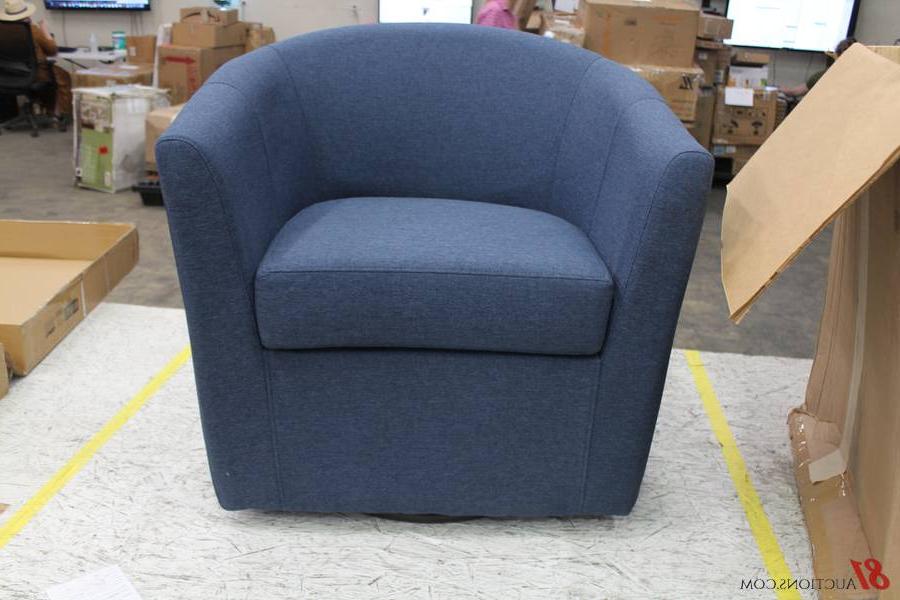 Molinari Swivel Barrel Chair In Molinari Swivel Barrel Chairs (View 12 of 20)