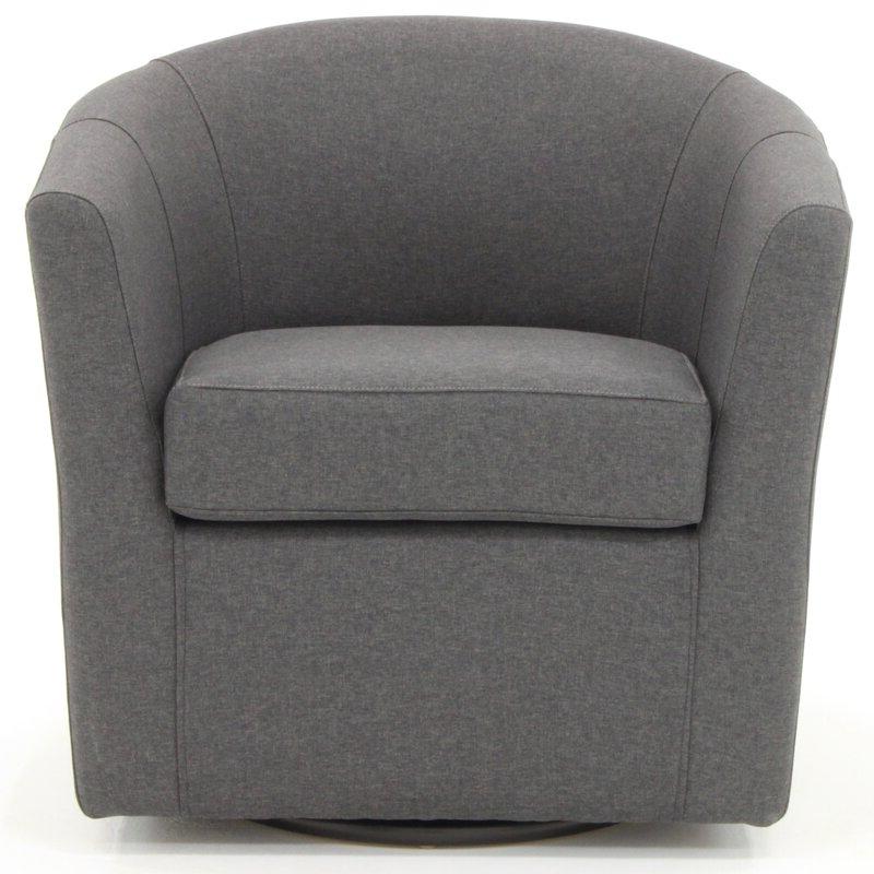 Molinari Swivel Barrel Chair Regarding Danow Polyester Barrel Chairs (View 5 of 20)