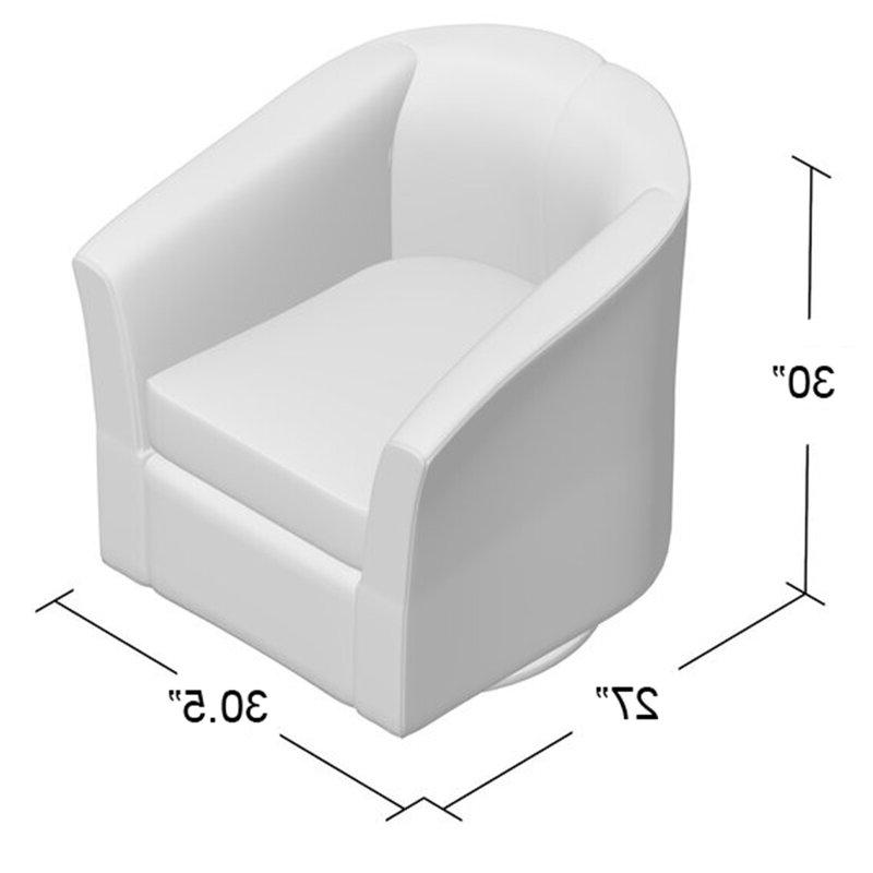 Molinari Swivel Barrel Chair Within Molinari Swivel Barrel Chairs (View 7 of 20)