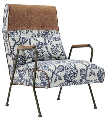 """Mondovi 26"""" W Tufted Polyester Armchair Fabric: Blue Polyester With Regard To Belz Tufted Polyester Armchairs (View 13 of 20)"""