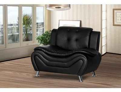 """Montenegro 45"""" W Faux Leather Club Chair Upholstery Color: Black/white Faux Leather For Montenegro Faux Leather Club Chairs (View 4 of 20)"""