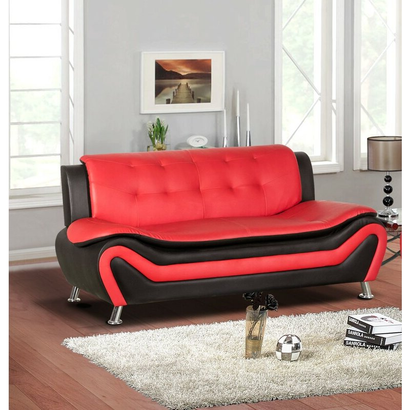 """Montenegro 78"""" Wide Faux Leather Armless Convertible Sofa Throughout Montenegro Faux Leather Club Chairs (View 6 of 20)"""