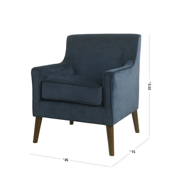 "Myia 26"" W Polyester Armchair In Myia Armchairs (View 5 of 20)"