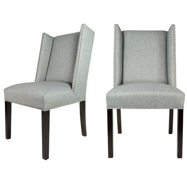 Nail Head Dining Chairs With Madison Avenue Tufted Cotton Upholstered Dining Chairs (set Of 2) (View 12 of 20)