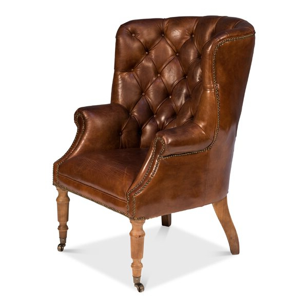 Navy Leather Chair Throughout Ansar Faux Leather Barrel Chairs (View 17 of 20)