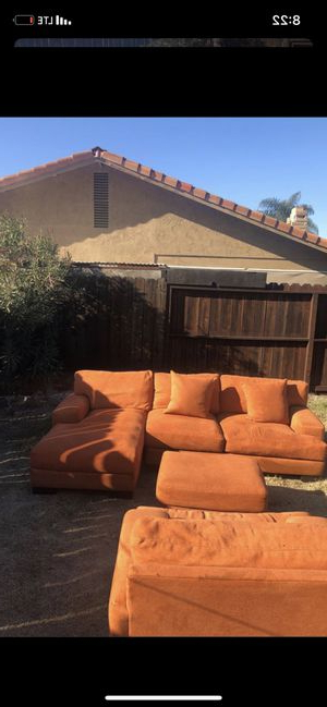 New And Used Chair With Ottoman For Sale In Modesto, Ca Inside Lucea Faux Leather Barrel Chairs And Ottoman (View 11 of 20)