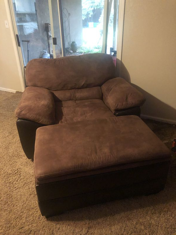 New And Used Chair With Ottoman For Sale In Modesto, Ca Throughout Lucea Faux Leather Barrel Chairs And Ottoman (View 13 of 20)