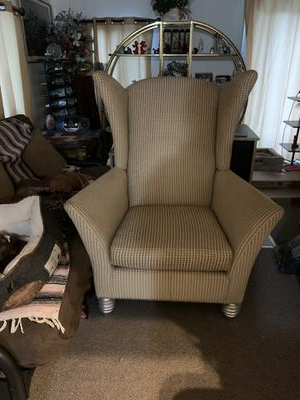 New And Used Wingback Chair For Sale In Daytona Beach, Fl Within Waterton Wingback Chairs (View 16 of 20)