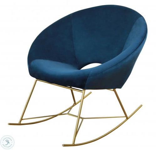 Nolan Navy Velvet Chair Pertaining To Ronda Barrel Chairs (View 18 of 20)