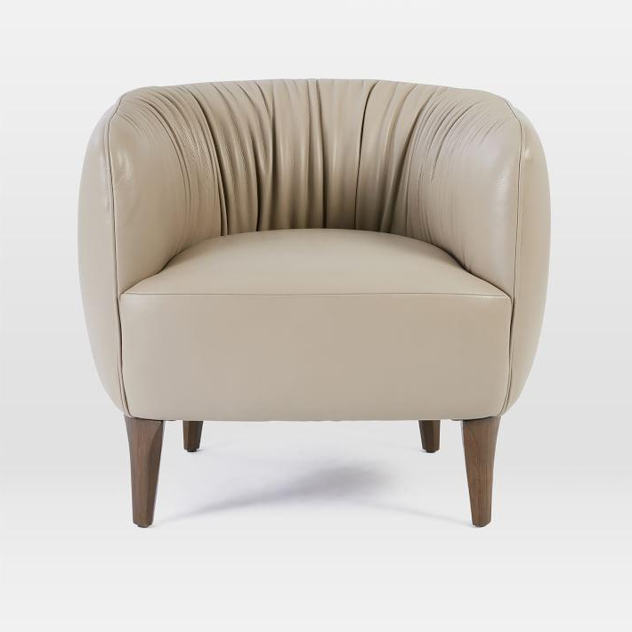 Nude Leather Curved Chair – Products, Bookmarks, Design With Zalina Swivel Armchairs (View 16 of 20)