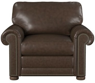 """Odessa 42"""" W Top Grain Leather Club Chair Upholstery Color: Cognac Genuine Leather With Regard To Jarin Faux Leather Armchairs (View 7 of 20)"""