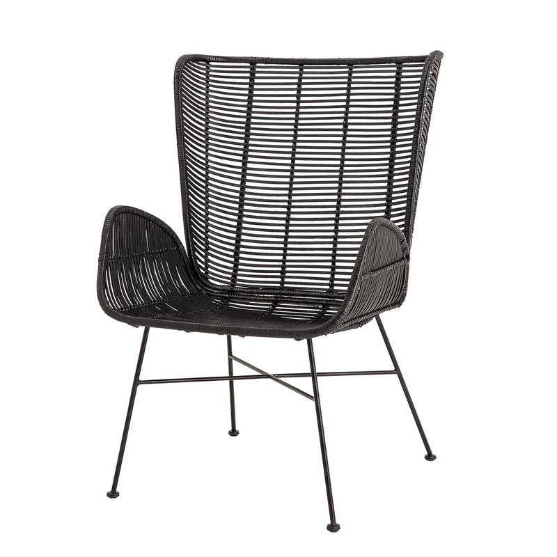 """Oglesby Woven Rattan 19"""" Armchair Pertaining To Oglesby Armchairs (View 4 of 20)"""