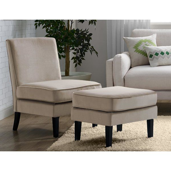 Olivia Slipper Chair | Chair And Ottoman, Chair And Ottoman Throughout Chaithra Barrel Chair And Ottoman Sets (View 9 of 20)