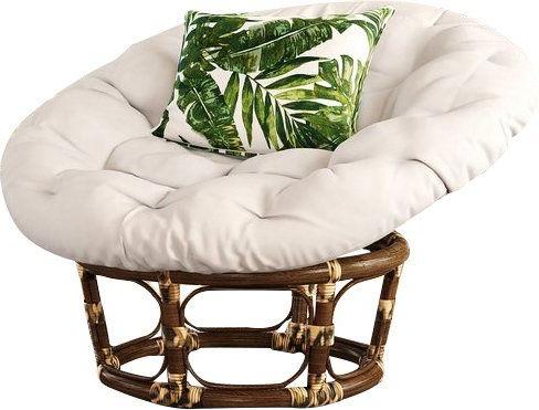 """Orndorff 42"""" Papasan Chair   Papasan Chair, Brown Leather Regarding Orndorff Tufted Papasan Chairs (View 7 of 20)"""
