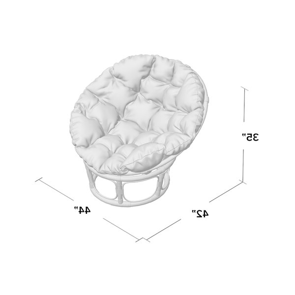 "Orndorff 44"" Tufted Papasan Chair For Orndorff Tufted Papasan Chairs (View 3 of 20)"
