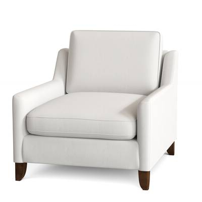"""Orren Ellis Nester 46"""" W Tufted Faux Leather Armchair 
