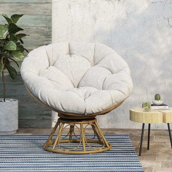 Outdoor Papasan Chair With Regard To Rosati Mongolian Fur Papasan Chairs (View 7 of 20)
