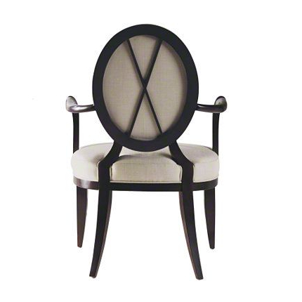 Oval X Back Dining Arm Chair   Dining Room Furniture Modern Regarding Hiltz Armchairs (View 10 of 20)
