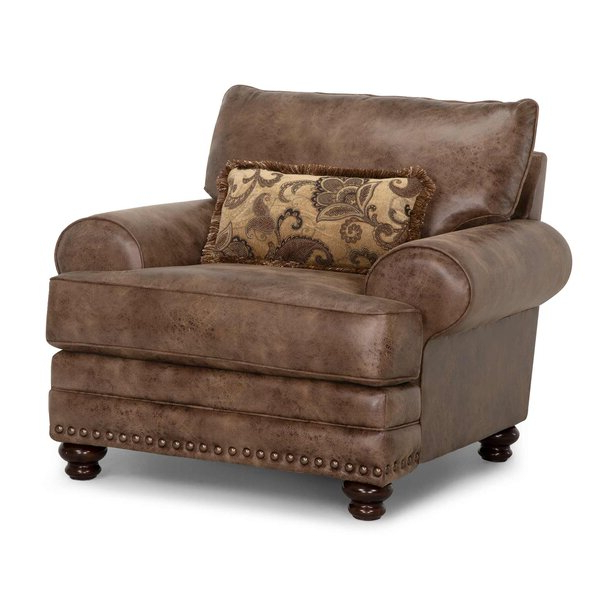 Oversized Leather Chair Regarding Marisa Faux Leather Wingback Chairs (View 13 of 20)