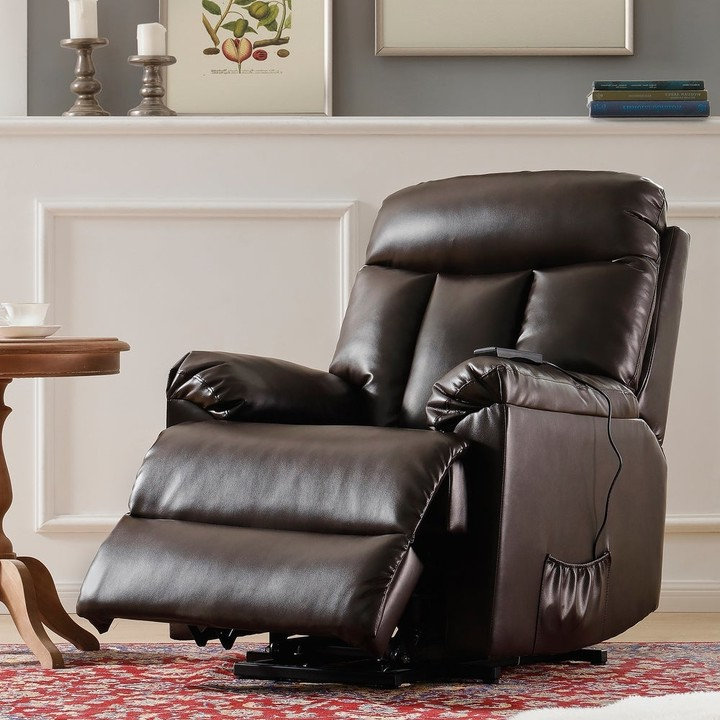 Overstock Lift Chair And Power Pu Leather Living Room Heavy Duty Reclining Mechanism Regarding Brookhhurst Avina Armchairs (View 16 of 20)