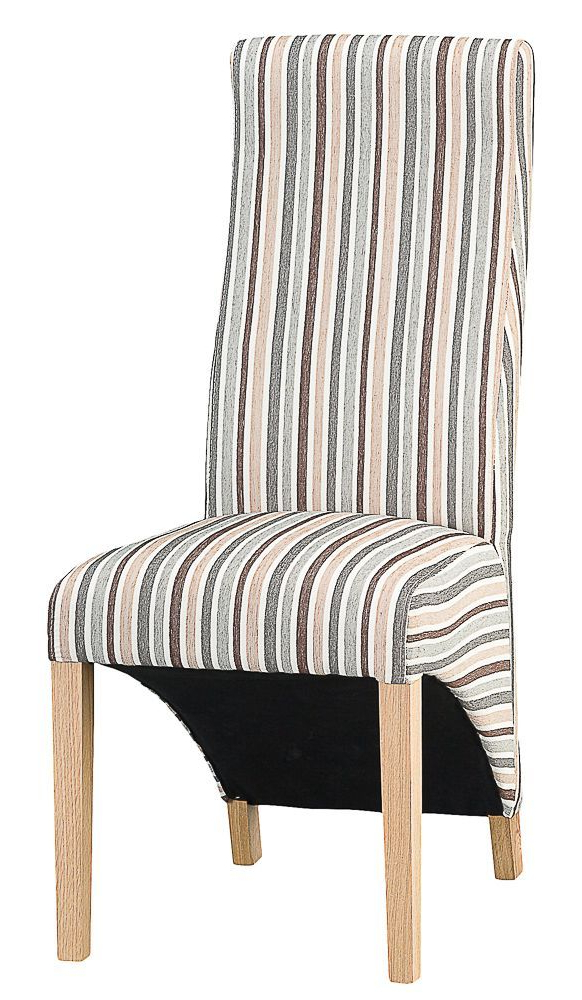 Padstow Duck Egg Blue Stripe Upholstered Dining Chair With Regard To Bob Stripe Upholstered Dining Chairs (set Of 2) (View 5 of 20)