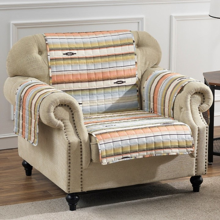 Painted Desert Reversible Arm Chair Protector – 81 X 81 Inches With Regard To Deer Trail Armchairs (View 20 of 20)