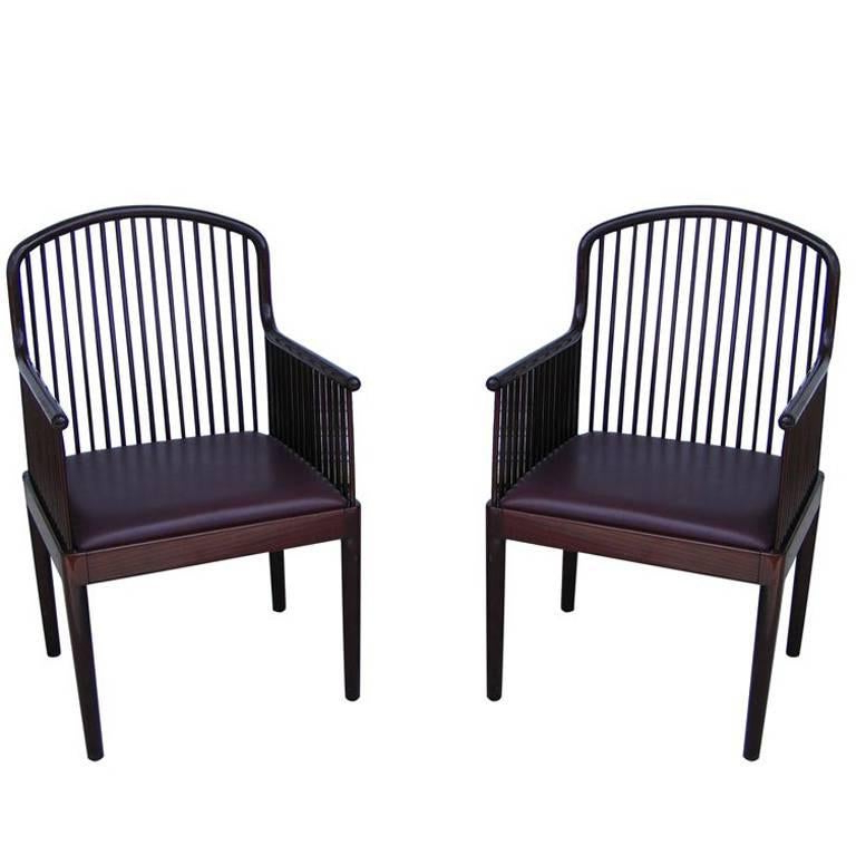 Pair Of Mid Century Stendig Knoll Exeter Andover Davis Allen Arm Chairs In Exeter Side Chairs (View 15 of 20)