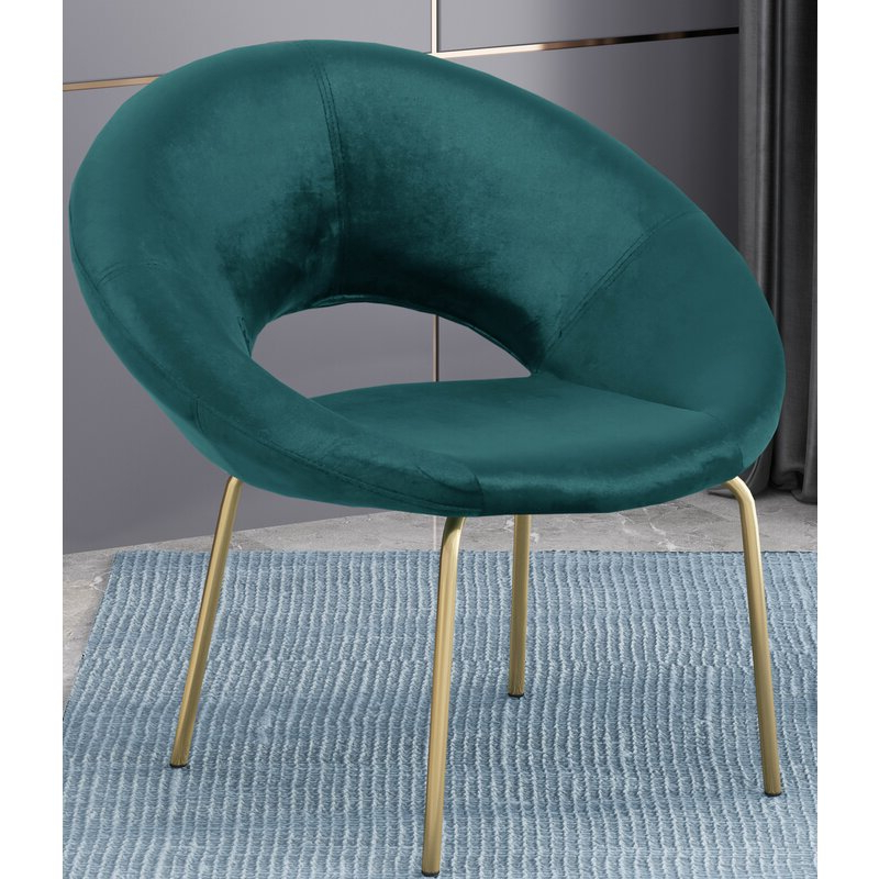 Palmer Modern Glam Papasan Chair Within Grinnell Silky Velvet Papasan Chairs (View 15 of 20)