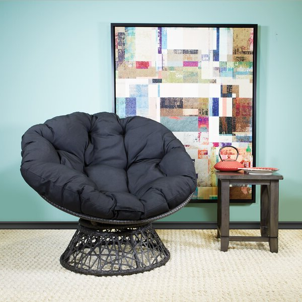 Papasan Chair With Cushion Intended For Orndorff Tufted Papasan Chairs (View 19 of 20)