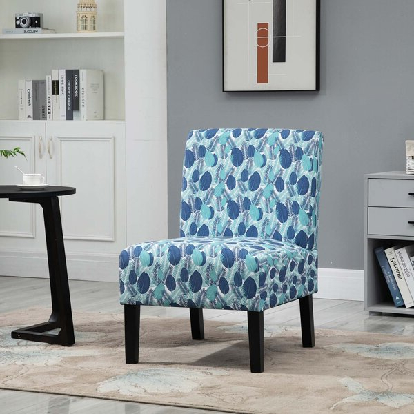 Patterned Accent Chairs Throughout Alush Accent Slipper Chairs (set Of 2) (View 15 of 20)